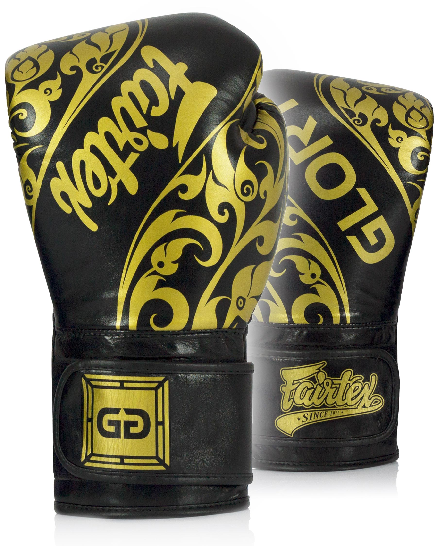 Fairtex Glory BGVG2 Gloves Black Boxing Muay Thai MMA Velcro Design Competition