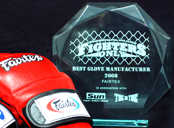 Best MMA Gloves Manufacturer 2008 by the readers of Fighter's Only Magazine