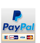 Paypal - fast and easy payment, all credit cards accepted through Paypal
