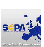 Single European Payment Area, easy and fast banktransfer without additional costs