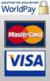 WorldPay company of RBS accepts all major credits cards, safe and fast