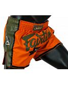 Fairtex BS1705 muay thai shorts Orange Satin 2