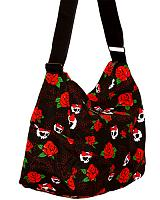 ModeS shoulder bag with Roses and Skulls