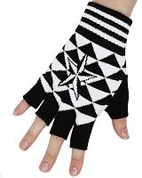 ModeS Girlie fingerless gloves with Nautical Star