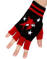 ModeS Girlie fingerless gloves with Swallows and Stars