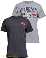 Lonsdale doublepack t-shirt Kettering