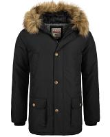 Lonsdale mens hooded parka coat Streetlam