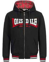 Lonsdale hooded zipper top Nateby