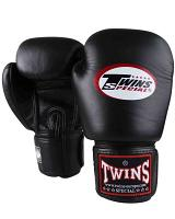 Twins Special BGVL3 leather boxing gloves - Black