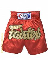 Fairtex Thai Short Red Lace