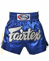 Fairtex Muay Thai short Blue Lace