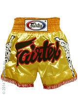 Fairtex Thai Short Gold on Gold