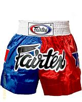 Fairtex Thai Short Patriot Red-Blue