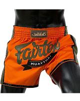 Fairtex BS1705 muay thai shorts Orange Satin