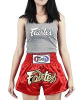 Fairtex BS202 Thai Short Women-cut Red