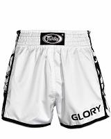 Fairtex BSG3 GLORY fightshorts white/black