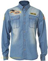 Goodyear long sleeve denimshirt Melvin
