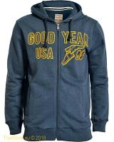 Goodyear hooded zipper top Hotchkiss