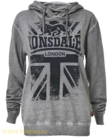 Lonsdale ladies hooded fleece top East Mey
