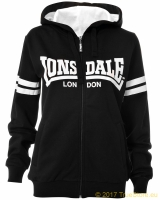Lonsdale ladies hooded zipper top Shirley