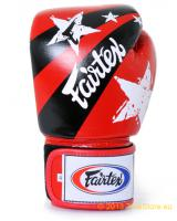 Fairtex Leder Boxhandschuhe Tight Fit - Nation Print