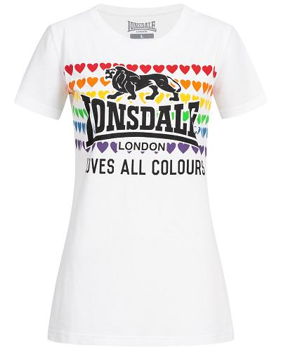 Lonsdale Damen Love All Colours T-Shirt Teresa 1