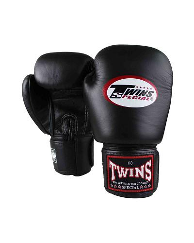 Twins Special BGVL3 leather boxing gloves - Black 1