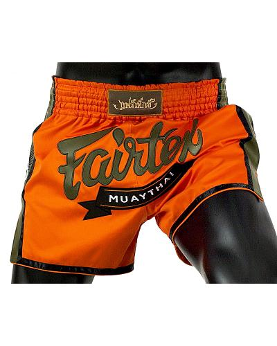 Fairtex BS1705 muay thai shorts Orange Satin 1
